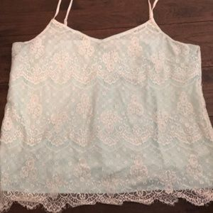 Maurices all over lace cami misty morning